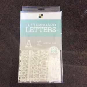 "Unopened DCWV 1"" White Letterboard Letters"